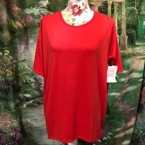 Brand New Red LuLaRoe Irma Tunic Shirt